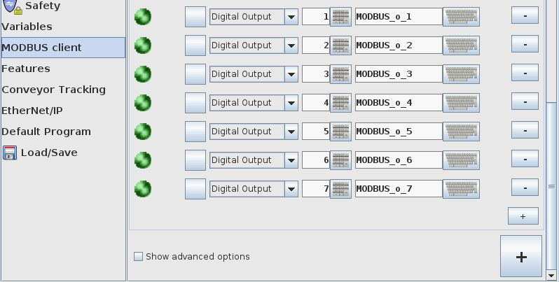 MODBUS registers and nodes |