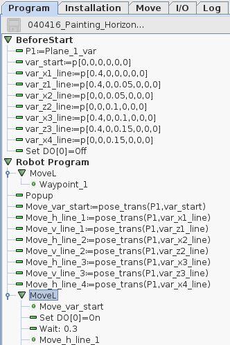 Universal-Robots Painting application |