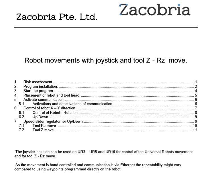 Zacobria - Universal-robot - 3 dimension robot control by joystick