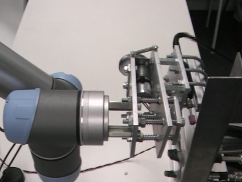 universal-robots zacobria pencil grinder tool holder radial move video side view.