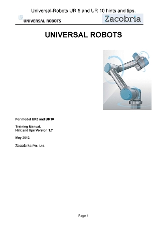 Zacobria - Universal-robots programming examples hints and
